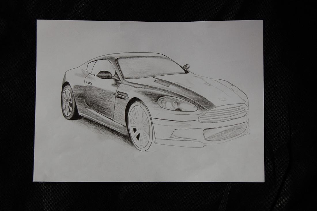 """Bild """"Aston Martin Bleistiftzeichnung"""" - pagenstecher.de - Deine ..."""