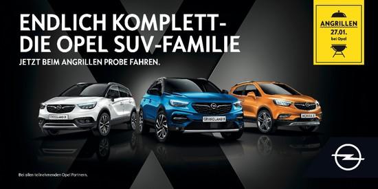 Auto - Angrillen bei Opel: Am 27. Januar den neuen Grandland X testen