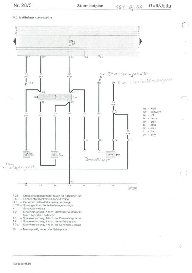 Brauche Motorkabelplan vom Golf 2 1,8 16V PL - Seite 1 ...