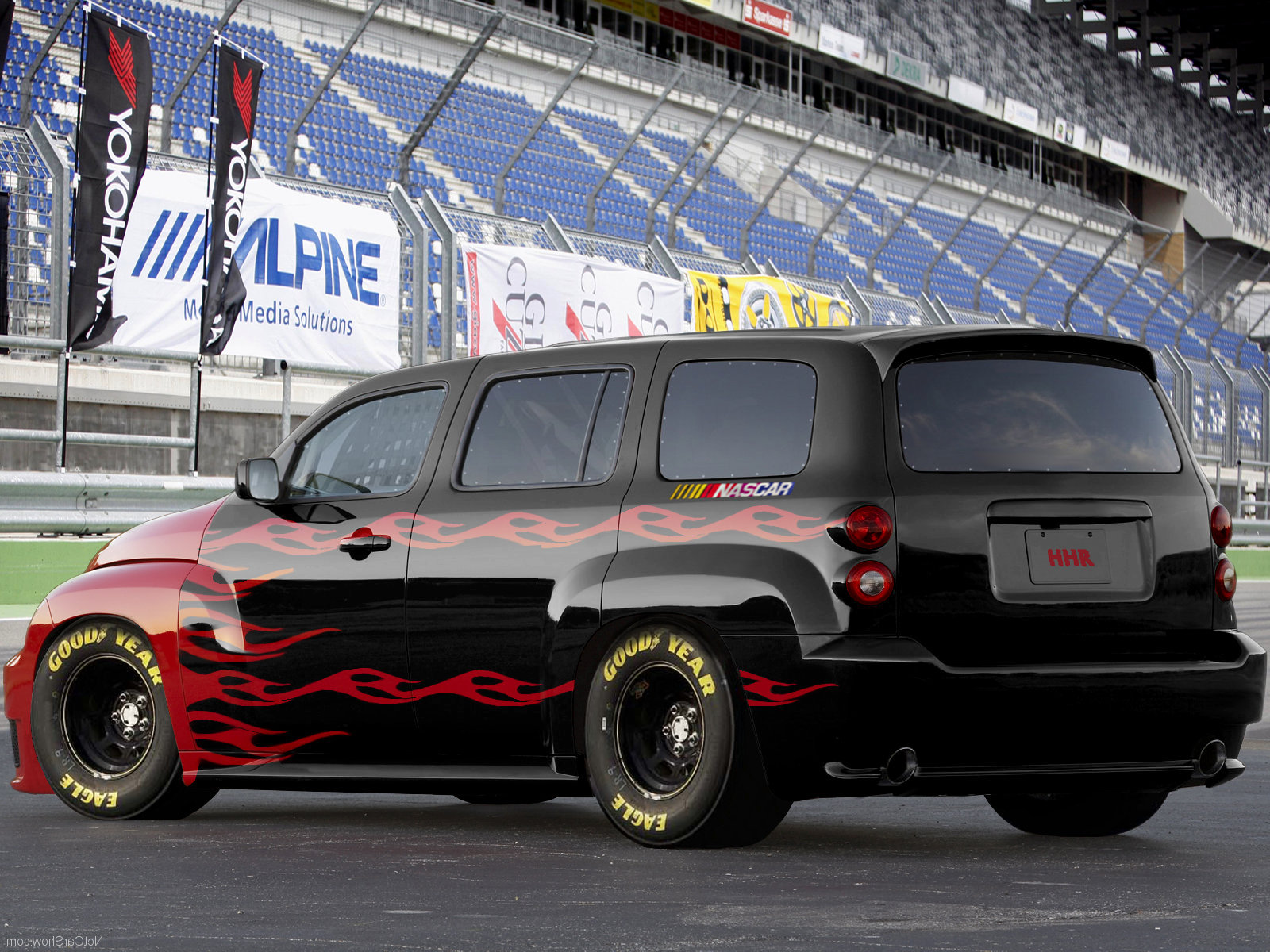 Custom Chevy Hhr At The Track With Images Chevy Hhr Hhr Car