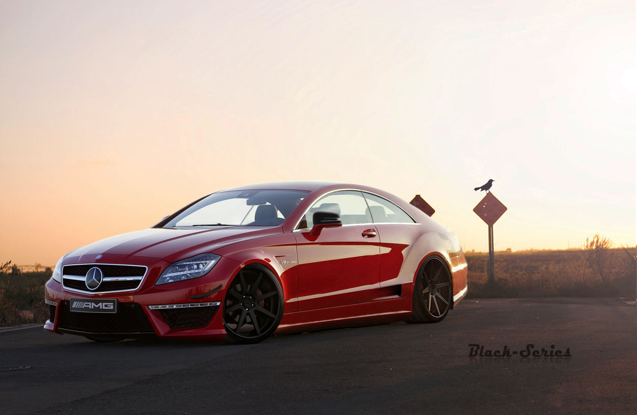 fake mercedes benz cls 63 amg black series pagenstecher