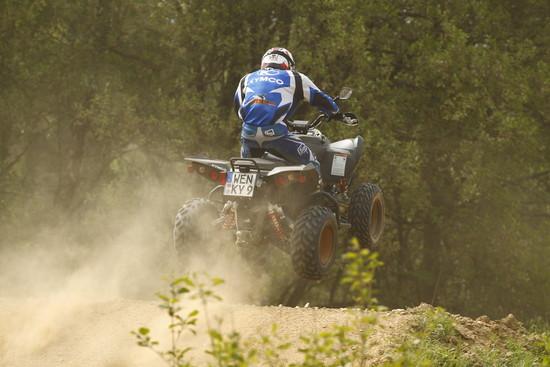 Motorrad - Kymco Maxxer 450i als Offroad Sport