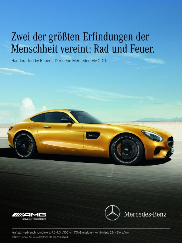 Video vorhang auf f r den mercedes amg gt for Mercedes benz marketing mix