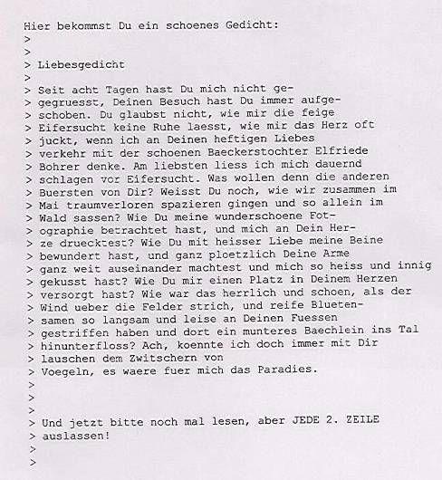 cooler brief ! :-) - Seite 1 - pagenstecher.de - Deine