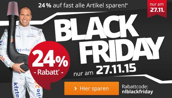 Deal - Nur heute - 24% auf fast alles bei kfzteile24.de