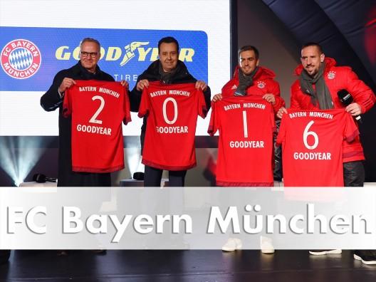 Auto - [ Video ]     Der FC Bayern München fährt auf Gummis von Goodyear ab