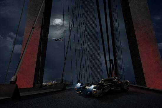 Game, Film und Musik - Fledermaus-Alarm: Batmobil ballert über den Bosporus