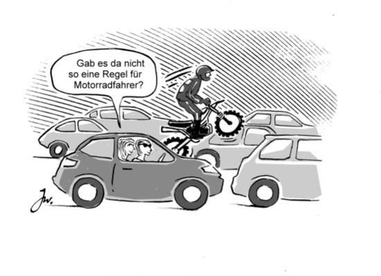 Recht + Verkehr + Versicherung - Durchschlängeln kann teuer werden