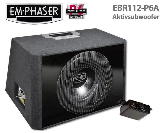 emphaser aktivsubwoofer ebr112 pa f r mehr bass im auto. Black Bedroom Furniture Sets. Home Design Ideas