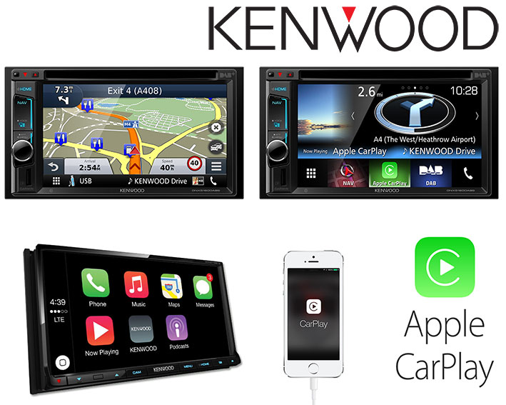 kenwood autoradios mit apple car play und android auto. Black Bedroom Furniture Sets. Home Design Ideas