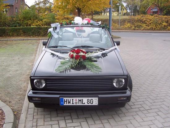 VW Golf 1 Cabrio 1,8 mein Hochzeitaut  pagenstecherde
