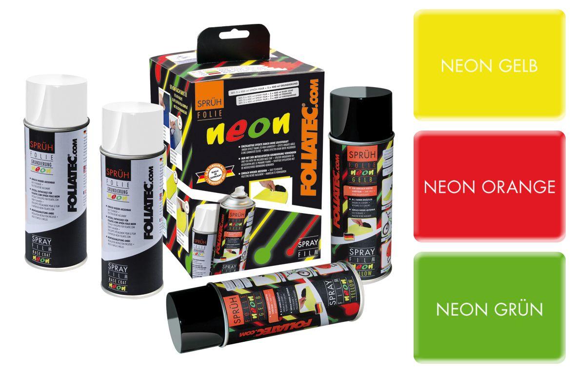 spr h folie von foliatec com jetzt auch in neonfarben. Black Bedroom Furniture Sets. Home Design Ideas
